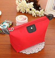 Wholesale New Style Korean Ladies Storage Bags Dumplings Shaped Makeup Bag For Travelling Hot Sale PU Leather Nylon Fabric Storage Bag