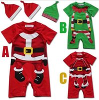 Wholesale Christmas suits Baby Xmas suits rompers infant clothing One piece jumpsuits for baby Shorts Sleeve rompers baby jumpsuit baby wear D10