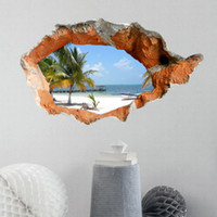 Wholesale Beach outside the wall D Art Wall Decals Removable PVC Wall stickers or your home or office Decor cm