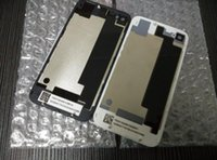 Wholesale Back Glass Battery Housing Door Back Cover Replacement Part with Flash Diffuser for iphone S DHL free