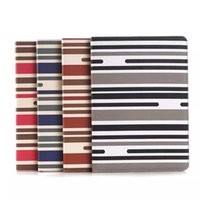 Wholesale Fashion Book Stripe Wallet Credit Card Flip PU Leather Cover Case for iPad Air iPad Folio Stand Leather Wallet Holster Card Holder Pouch