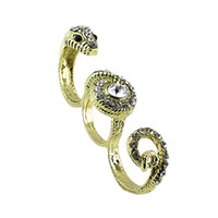 Wholesale 2014 New Arrivals Fashion Design Vintage style Gold Plated Alloy Snake Shape Carved Rings For Women