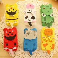 Wholesale C037 cartoon cute wooden pocket stapler stapler stapler