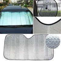 Wholesale 130cm cm car sunshade Cheap automotive supplies shading tool Foldable Car Auto Front Rear Windshield Heat Reflective Hot