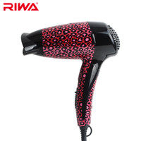 ac leopards - Riwa foldable mini hair dryer for travel sexy Leopard print temperature thermostatic C certification hair blower W