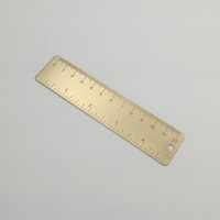Wholesale New Vintage Brass Copper Handy Mini Straight Measurement Ruler School Metal Bookmark CM Inch Dual Scales
