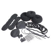 Wholesale Magic Hair Clip Styling Maker Tool Set Pads Foam Sponge Bun Donut Hairpins MTY3