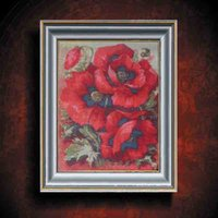 acrylic cross paintings - Hot Romantic DIY Diamond Mosaic Pictures For Living Room Flowers Rainbow Rose Red HandMade Diamond Paintings Cross Stitch Kits