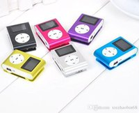 Wholesale Metal aluminum sports card screen clip mp3 player with screen card mp3