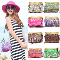 Wholesale Summer Bohemian Beach Straw Bag Fashion Handmade Cute Purse Party Wedding Novelty Match Shoulder Casual Bags