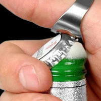 Wholesale Finger Ring Bottle Opener Stainless Steel Beer Opener Colors Ring Opener Black Silver Red Gold