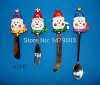 Wholesale cheese butter knives set with polyresin handle