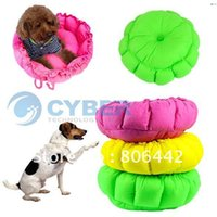 Wholesale 2012 HOT Colorful Pet Cat Dog Bed Round Kennel Sleeping Bag Warm Cushion