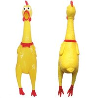 Wholesale 2015 New Funny Vent Long Neck Chicken Shrilling Chicken Sound Squeeze Screaming Toy boy girl kids toy