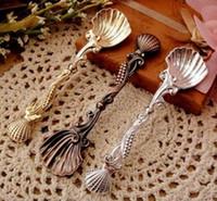 Wholesale New fashion retro creative kitchen spoon coffee spoon tea spoon of ice cream c040