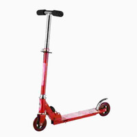 Wholesale 1x Foldable Cheap Foot Pedal Two Wheel Scooter Bike for Baby Kid Children Elastic PVC wheels Balance Kick Scooter