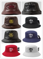Wholesale 2016 New cotton Letter bucket hat Tie Dye washed crusher bucket hats for men and women outdoor leisure travel cap visor sun hat H023