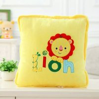 Wholesale lion cm open cm cute cartoon bolster quilt blanket patterns for choice lion totoro gift for child sets