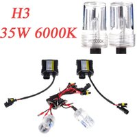 Wholesale H3 W K V Car H3 HID Xenon Conversion Kit Set Replacement Single Beam Slim Ballast Headlamps Foglight Bulbs Lights