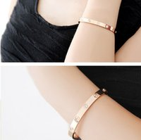 Wholesale K gold plated rose gold bracelet bracelet eternity couple big fashion color gold bracelet