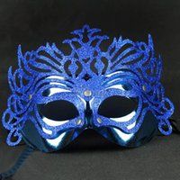 Wholesale Halloween Christmas Venetian Mask Crown Mask Party Bar Gold Powder Electroplating Half Face Mask Goggles
