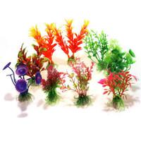 Wholesale Artificial Water Plants for Fish Tank Aquarium Plastic Decoration Ornament