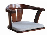 bent wood chairs - Wooden Chair No Legs with Double Arm Made From Solid Bent Wood Ash Japanese Floor Legless Chair Living Room Furniture Armchair