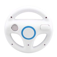 Wholesale 2016 Steering Wheel Kart Game Racing Wheel for Nintendo W ii White without Remote Controller