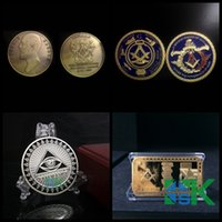 art samples - Sample Order Masonic Freemason Silver Gold Plated Metal Craft Coins