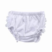 Wholesale Lovely Baby Cotton Grenadine PP Briefs Bloomers Baby Toddler Ruffles Underpants With Lace Flower ELT1