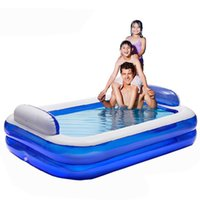 baby swimming bathtub - 2016 new Large thickening adult swimming pool for family children inflatable bathtub baby play pool