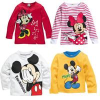 Unisex girls long sleeve shirts - Minnie Mickey Mouse Baby Girls Boys Kids Long Sleeve Blouses Tops Shirt Hoodie