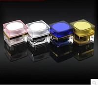 Screw Cap acrylic cosmetic jars - Plastic Mini Cosmetic Storage Lotion Jar for Make up Cream Frost Sample Box Cream Pet Jar g with Screw Cap Acrylic Container