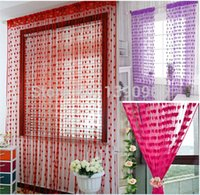 Wholesale New Cute Heart Line Tassel String Door Curtain Window Room Curtain Valance
