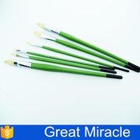 artist brush pen - Artist Paint Brush pen set Nature Bristle Greenelegant Wooden Handle Watercolor paint brushes Oil brushes for