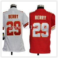 berry cotton - Factory Outlet The best Christmas gift Eric Berry White Red Youth Authentic Football Jerseys Size S XL Mix order
