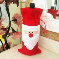 bag party at home - Christmas Santa Bottle Cover of Red Wine Christmas Table Decoration Cover Dinner Party Bags At Home Decorations