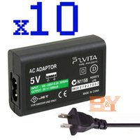 Wholesale 5V AC Adapter Cable home wall charger adaptor for Sony playstation PS VITA