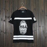 american capitan - capitan america European and American balr hip hop Edison Tide brand new HBA fingerprint printed cotton marvel man t shirt summer