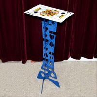 best poker tables - alluminum alloy Magic Folding Table blue color poker table Magician s best table magic trick stage illusions Accessories