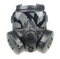 TACTIQUE AIRSOFT PAINTBALL FULL FACE SKULL GAZ MASQUE M50 BLACK-34154
