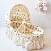 Wholesale 100 Handmade Corn Bran Woven Bassinet Newborn Cradles Breathable Baby Crib Infant Sleeping Baskets Baby Care Bedding Product