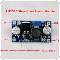 Wholesale LM2596 DC DC Adjustable buck converter Step Down Power Reverse Polarity Protection LED Indicator Enable Interface