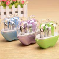 apple nines - L028 Apple tool suite transparent shell Beauty nine sets of makeup tool Kit Travel Kit