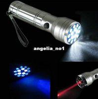 Cheap Free Shipping Aluminum 15 LED Ultra UV Flashlight Torch Laser Pointer