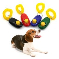 Wholesale Portable Dog Button Clicker Sound Trainer Pet Training Tool Wrist Band Accessory