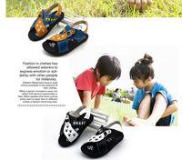 Wholesale Fashion Baby boys Sandal Summer New Brand Children s Velcro Shoe PU Leather Sandal Hot Handsome Boy Little Dog Footprint Shoe