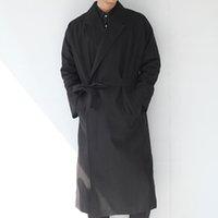 Wholesale Fall New men fashion Casual men s Trench Coat long Outerwear large size loose clothes men punk Harajuku streetwear coat K338