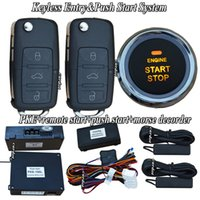 Wholesale car smart keyless entry push button start system morse decorder unlock and start smart key switching auto window up after lock action