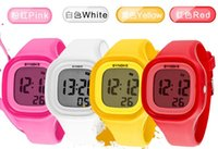 Wholesale SYNOKE Snow moment when colorful luminous waterproof jelly watch Korean student electronic silicone couple watches